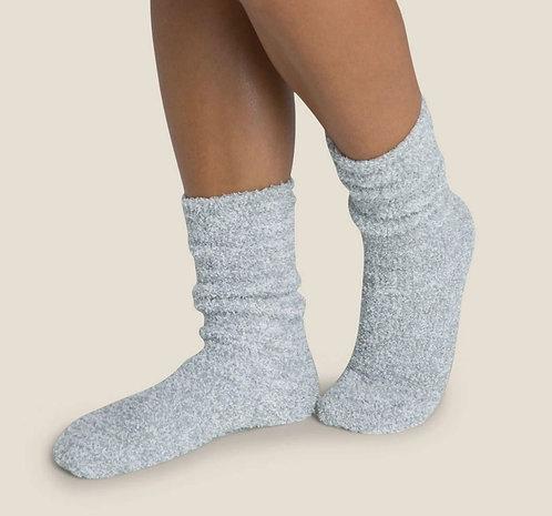 CozyChic Heathered Women's Socks - Blue Water / White