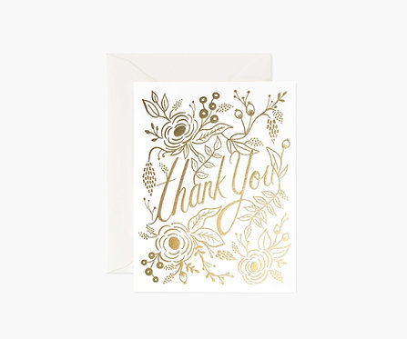 Rifle Paper - Marion Thank You Cards BOXED SET