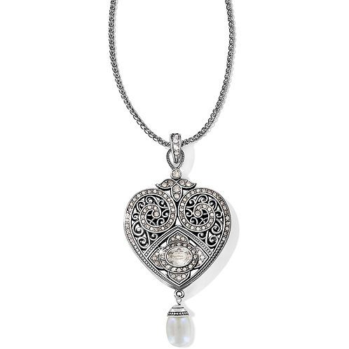 Brighton - Mumtaz Pearl Heart Convertible Necklace