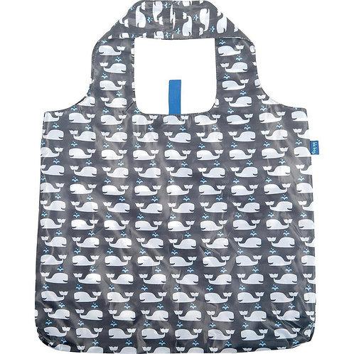 Whales Grey Blu Reusable Bag