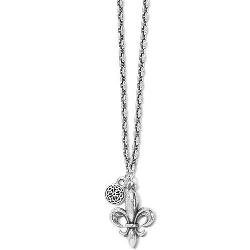 Brighton - Ferrara Fleur De Lis Petite Necklace