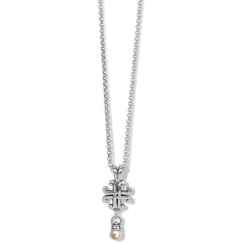 Brighton - Taos Pearl Cross Mini Necklac