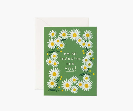 Rifle Paper - Daisies Thankful for you Card