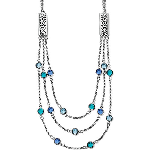 Brighton - Elora Gems Blues Tri Strand Necklace