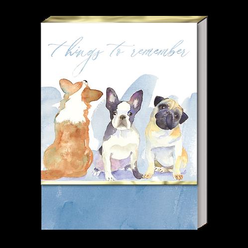 Dog Trio Pocket Note Pad