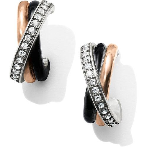Brighton - Neptune's Rings Black Post Clip Earrings