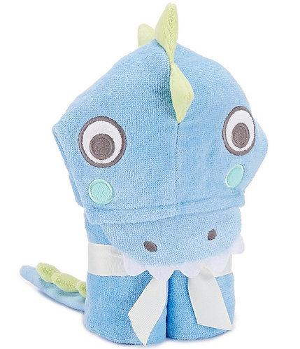 Blue Sea Serpent Hooded Baby Bath Wrap