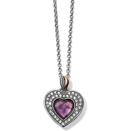 Brighton - Neptune's Rings Amethyst Heart Reversible Necklace