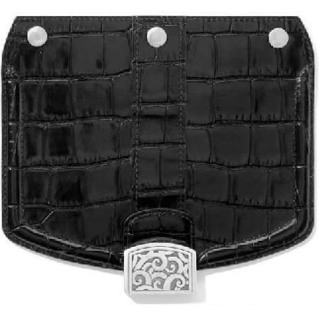 Brighton - Mod Croc Snappy Flap - Black