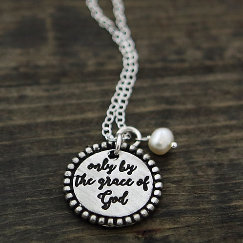 Only By The Grace Of God - Necklace, The Vintage Pearl