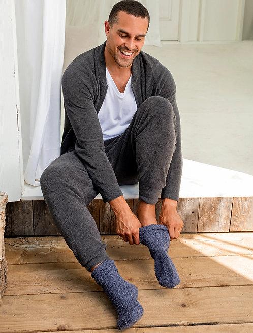 CozyChic® Men's Ribbed Socks - Indigo / Pacific Blue