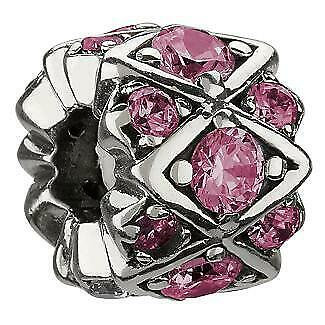 Shimmering Stone Pink Charm