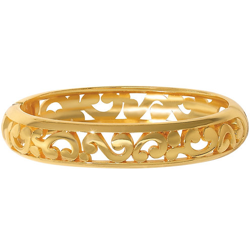 Brighton - Contempo Medium Hinged Bangle - Gold
