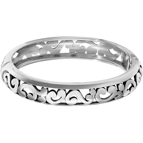 Brighton - Contempo Medium Hinged Bangle - Silver