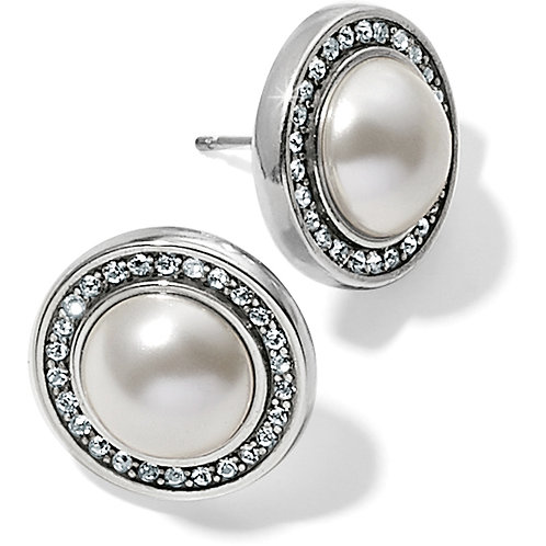 Brighton - Chara Ellipse Pearl Post Earrings