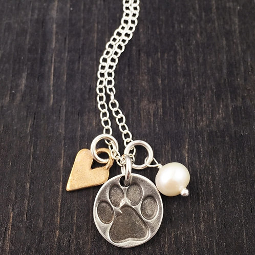 All You Need Is Love And A Dog - Necklace, The Vintage Pearl