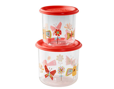 Birds & Butterflies™ Good Lunch® Snack Containers Large Set-of-Two