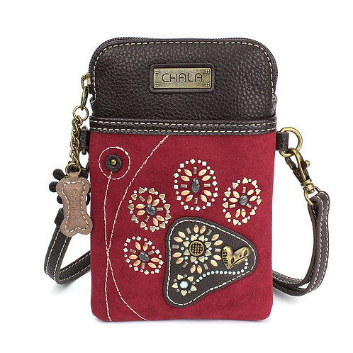 Pawpring Dazzled (Red) - Cell Phone Crossbody