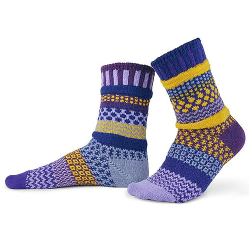 Solmate Socks - Purple Rain Crew Socks