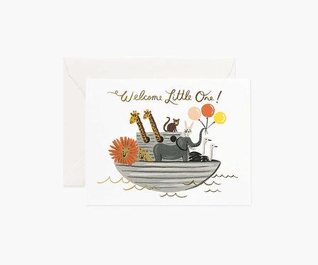 Rifle Paper - Noah's Ark Baby Card