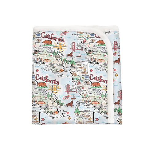 California Map Baby Blanket