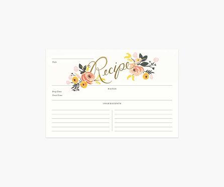 Rifle Paper - Peony Recipe Cards