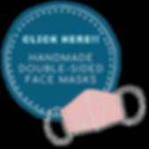 Handmade Masks Sign Website (Transparent