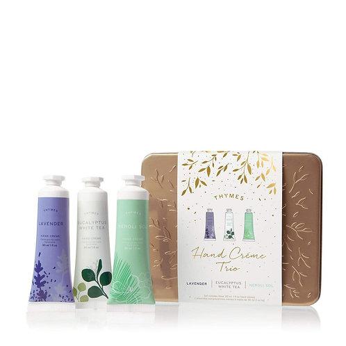 Thymes - Hand Cream Trio - Lavender, Eucalyptus White Tea, Neroli Sol
