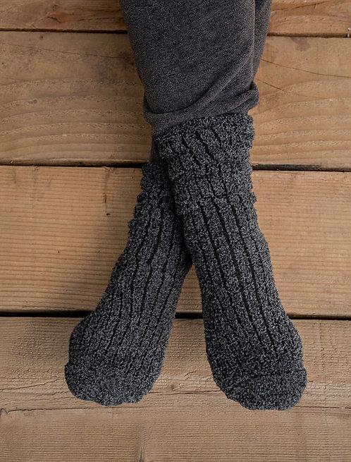 CozyChic® Men's Ribbed Socks - Carbon / Black