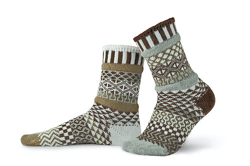 Pine Cone Solmate Socks