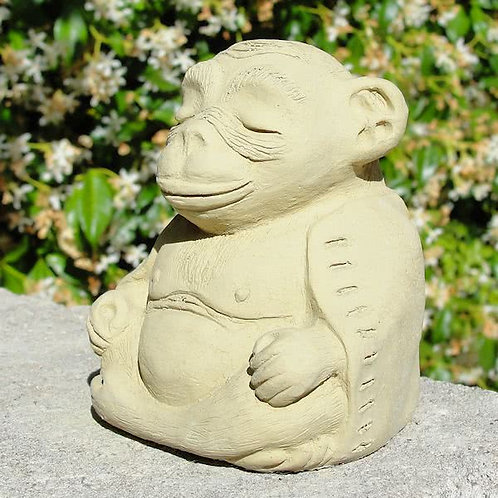 Meditating Monkey Figure - Small