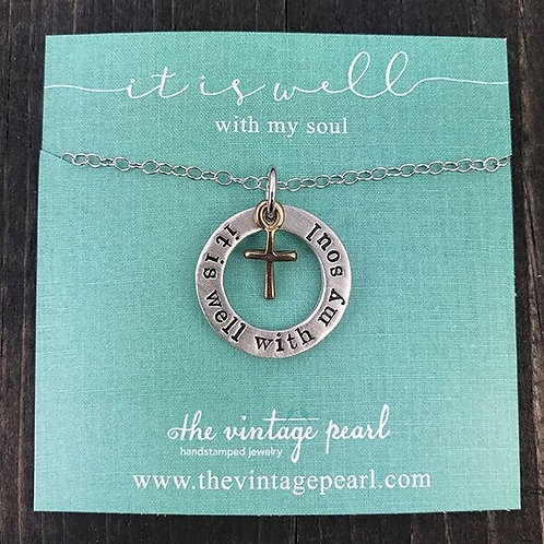 It Is Well With My Soul - Necklace, The Vintage Pearl