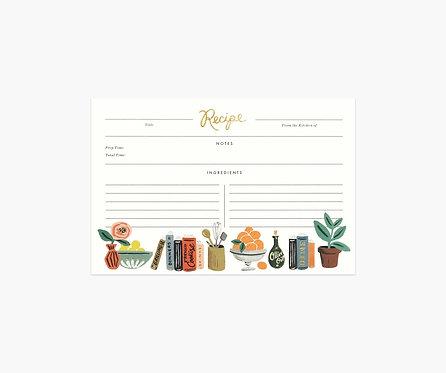 Rifle Paper - Kitchen Shelf Recipe Cards