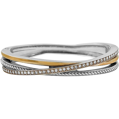Brighton - Neptune's Rings Narrow Hinged Bangle