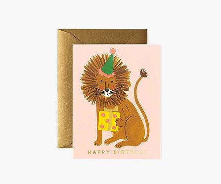 Rifle Paper - Lion Birthday Card