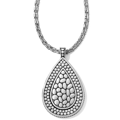 Brighton - Pebble Teardrop Convertible Reversible Necklace