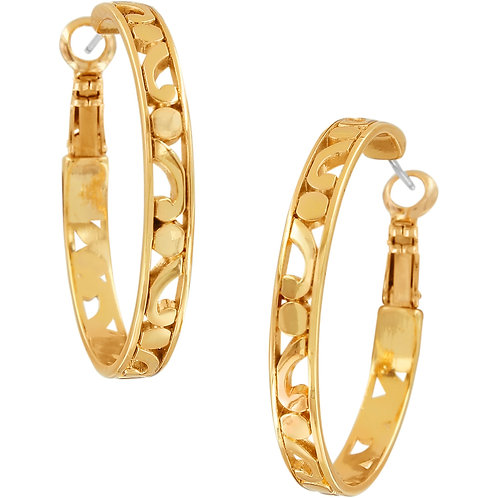 Brighton - Contempo Gold Medium Hoop Earrings