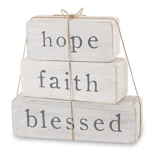 Mud Pie - Hope Faith Blessed Blocks