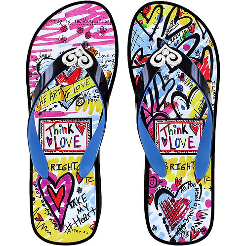 Brighton - Julia Black Flip Flops