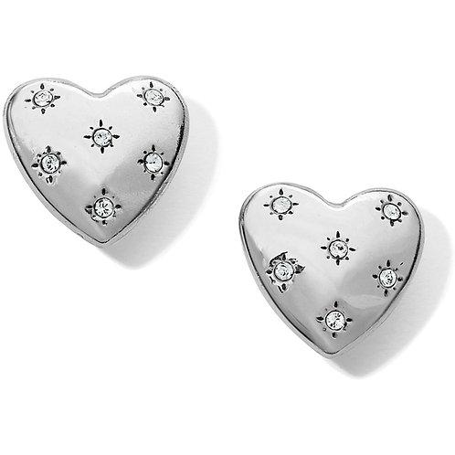 Brighton - Stellar Heart Post Earrings