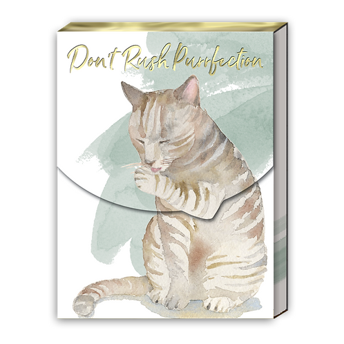 Purrfection Pocket Note Pad