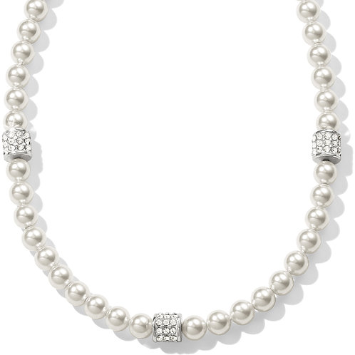 Brighton - Meridian Petite Pearl Station Necklace