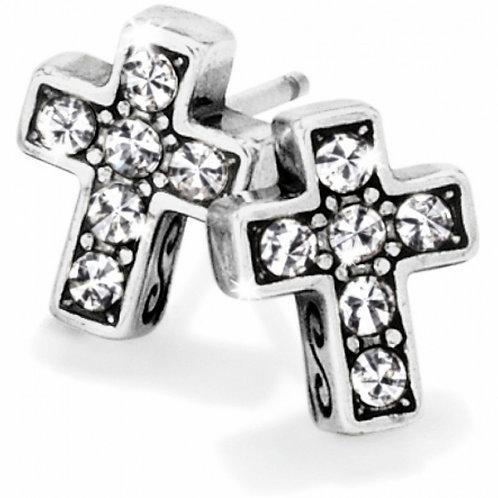 Brighton - Starry Night Cross Mini Post Earrings