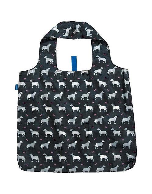 Dog Black Blu Bag Reusable Tote