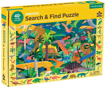 Dinosaur Search & Find 64 Piece Puzzle