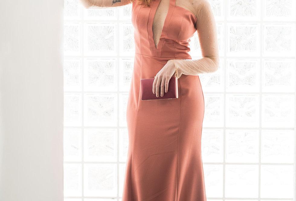 Vestido Rosê Longo Liso IN18021 PP