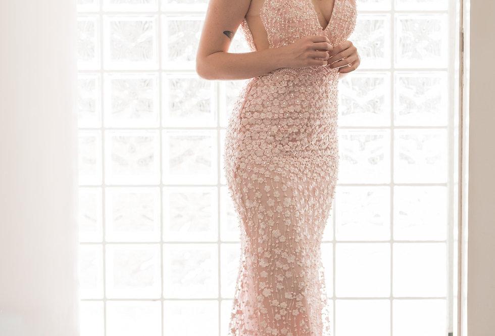 Vestido Rosa Longo 1014 SP