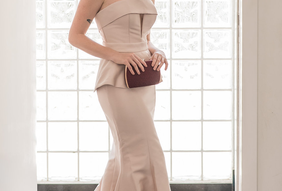 Vestido Rose Longo Liso