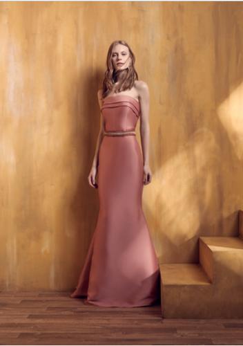 76a9211550 Vestido Rosa Rosê Longo Liso 18343 FD
