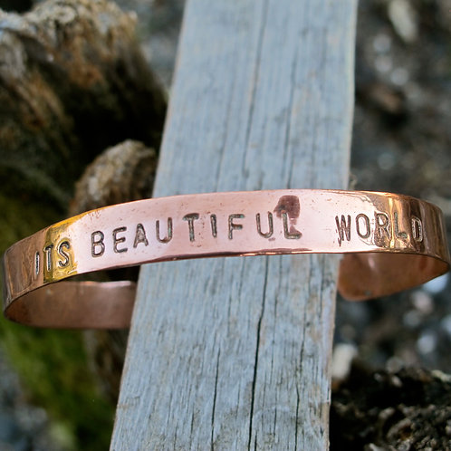 "Recycled Copper ""It's beautiful world"""
